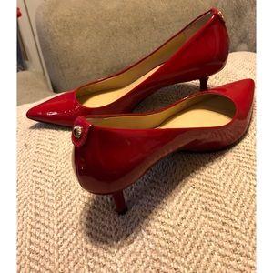 Michael Kors Red Flex Pumps Patent Leather Size 6
